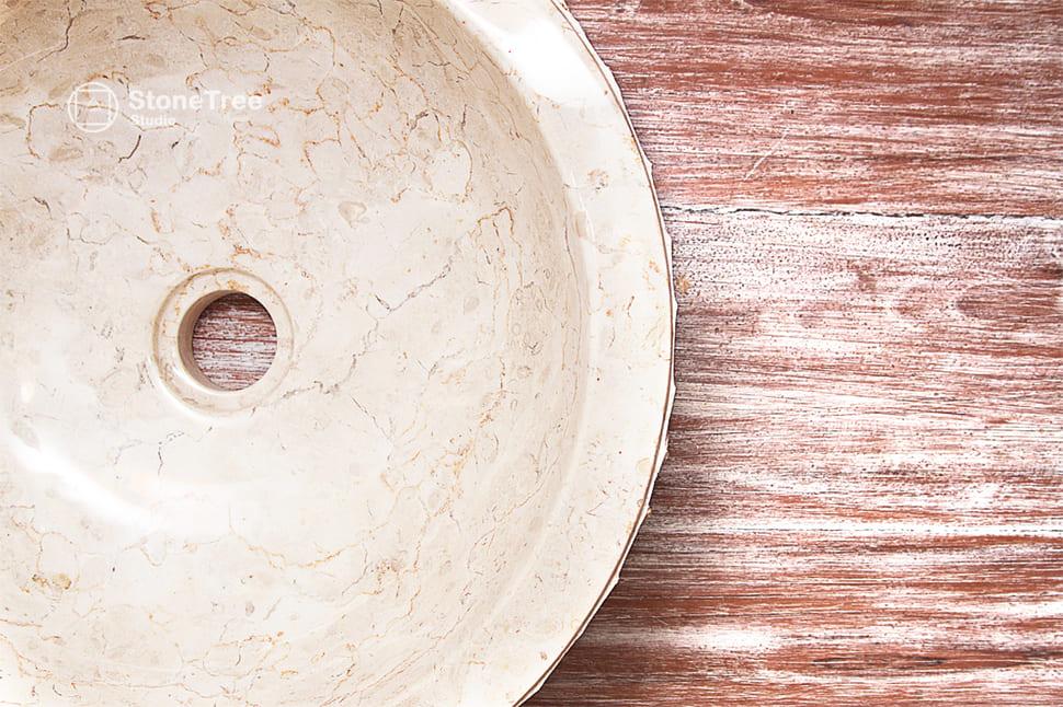 Раковина из мрамора Round Cream