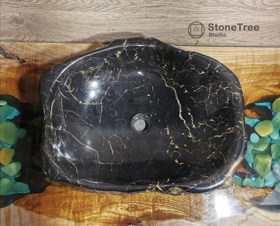 Раковина из окаменелого дерева GP-022