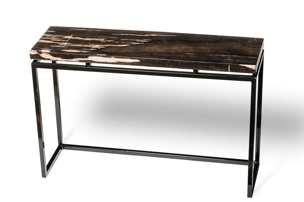 Консольный стол из окаменелого дерева Panther