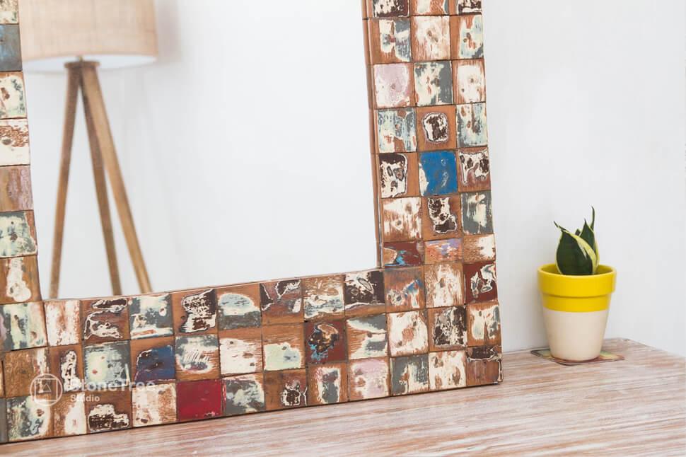 Зеркало Mozaic (recycle wood)