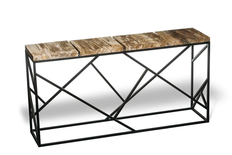 Консольный стол из окаменелого дерева Karacal