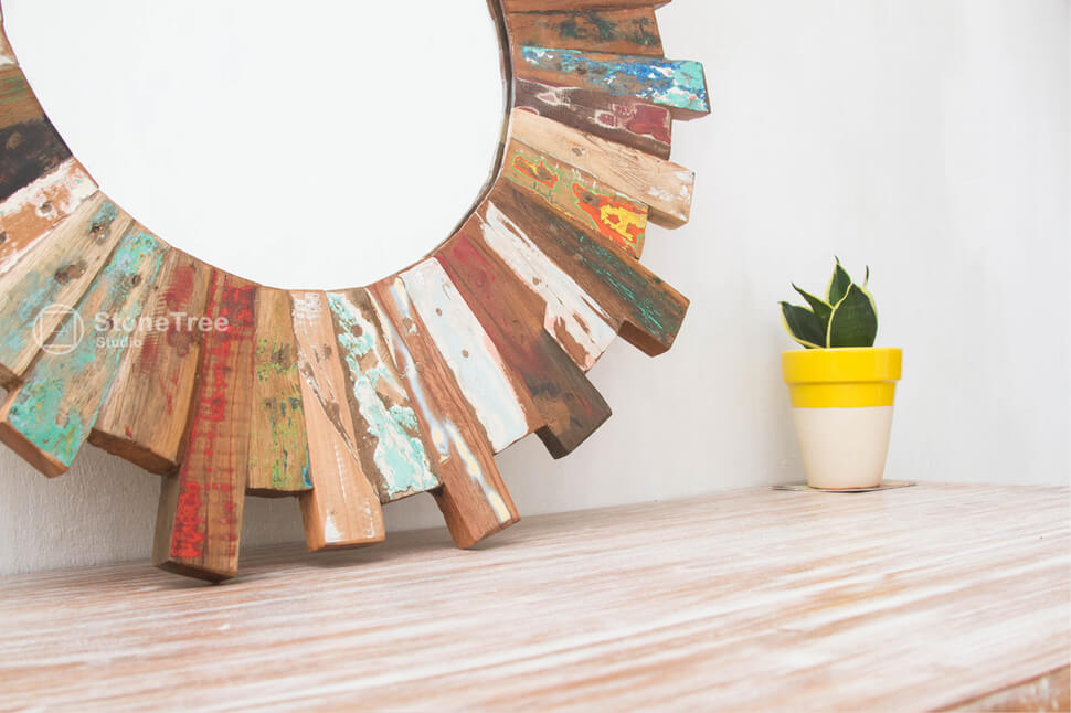 Зеркало Solis (recycle wood)
