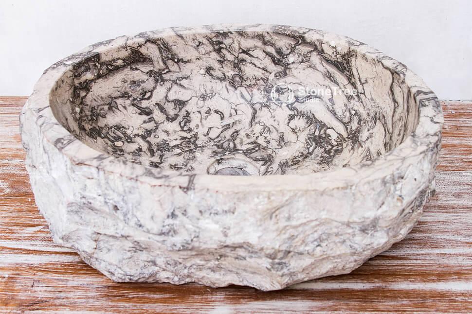 Раковина из мрамора Grey Tiger