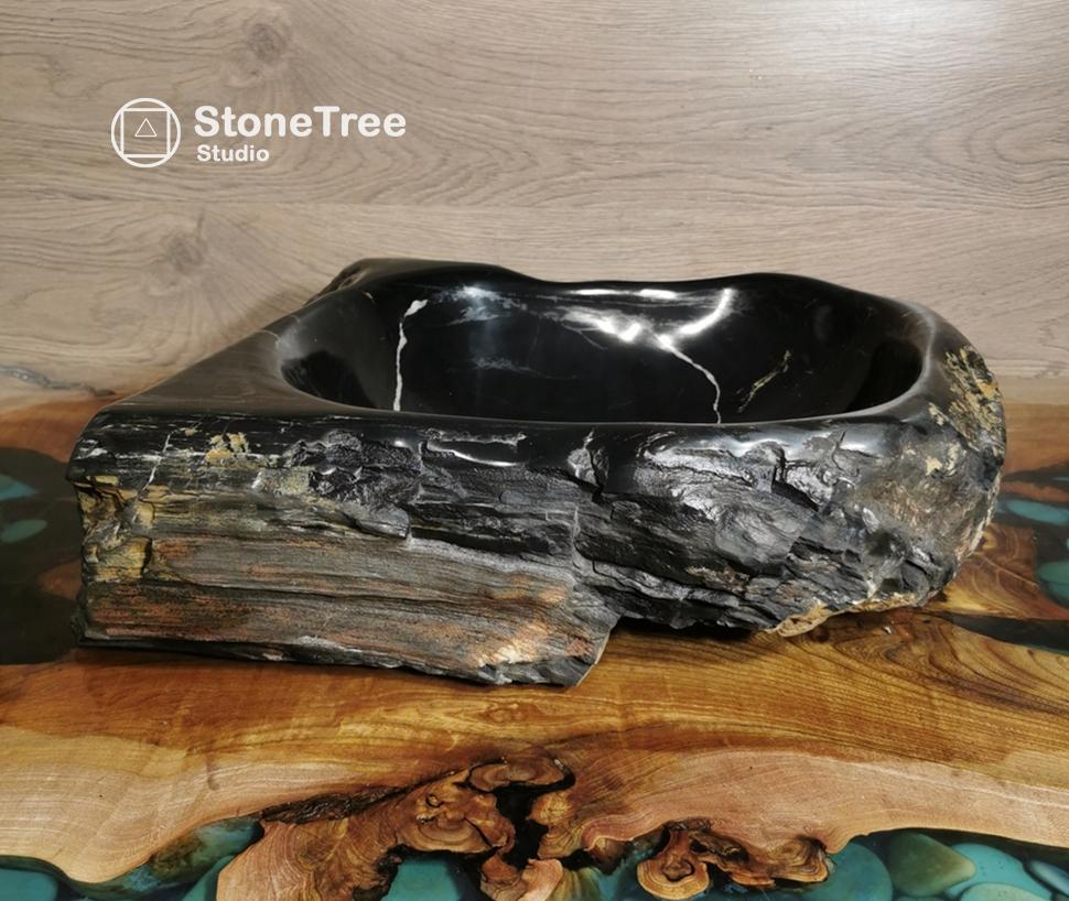 Раковина из окаменелого дерева GP-020