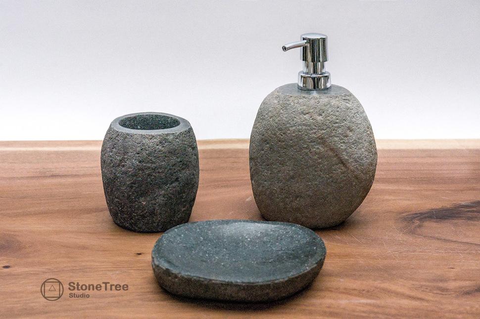 Набор для ванной из речного камня River (3 предмета)